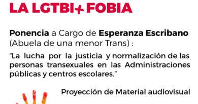 Cartel Acto contra la LGTBI+ Fobia