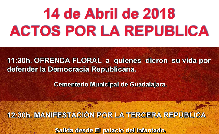 Cartel Actos por la República