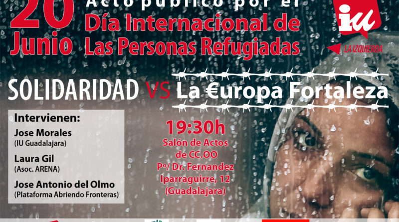Cartel Acto Dia del refugiado