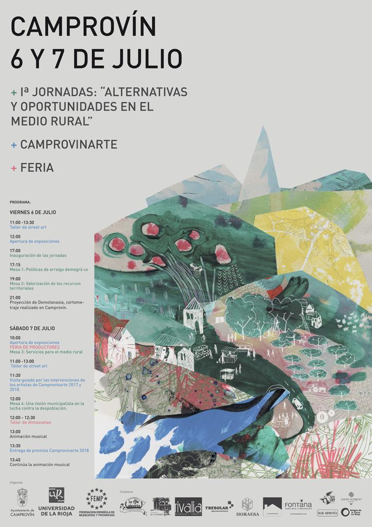 Cartel Jornadas contra la despoblación en Camprovin