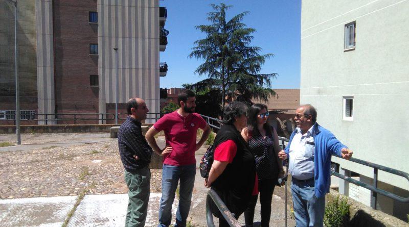 Unidas podemos visita el barrio de Las Ramblas